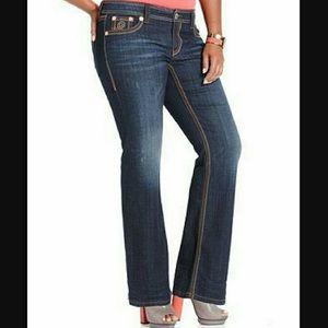 Womens Seven 7 Seven7 Luxe Bootcut Jeans - Sz 22